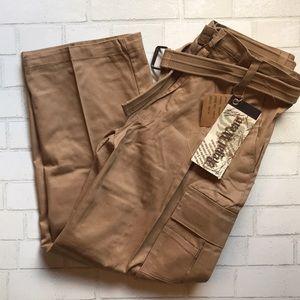 Regal Wear Pants NWT Cargo 5RP13 Khaki 36x32 BELT
